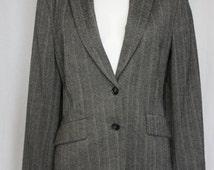 Herringbone tweed jacket tailored new wool Christian Berg Stockholm  jacket EU 44 US 12