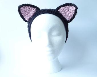 Crochet Headband Pattern CROCHET PATTERN Crochet Headbands for Adults for Children Crochet Headband Hair Accessory Crochet Earwarmer Cat Ear