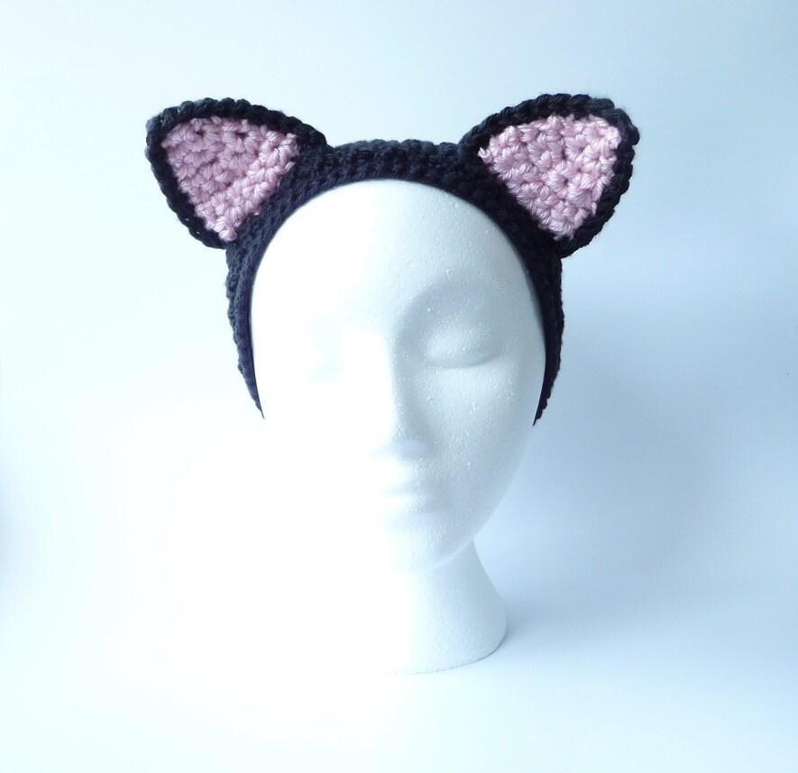 Crochet Headband Cat Ears
