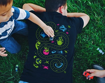 2XL, Space Play Mat Shirt, Fathers Day Gift, Car Play Mat Shirt, Gift for Dad, Alien Shirt, Outer Space Shirt, Back Massager for Dad