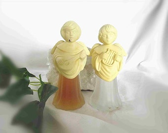 Vintage Avon Angel Decanters Angel With Mandolin Angel With Lyre Cologne Bottle Perfume Bottles 1970s Avon Christmas Decor Childs Room Decor