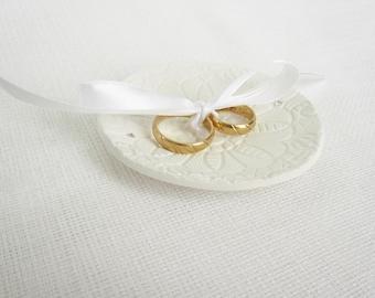 Wedding Ring Bowl, Ring Bearer Plate Swarovski Crystals, Rustic Ring Bowl, Wedding ring pillow, Romance Vintage Ring Bowl - Ready to Ship