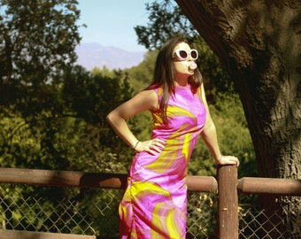 Vintage 70s Malia Hawaii MUMU Maxi Dress