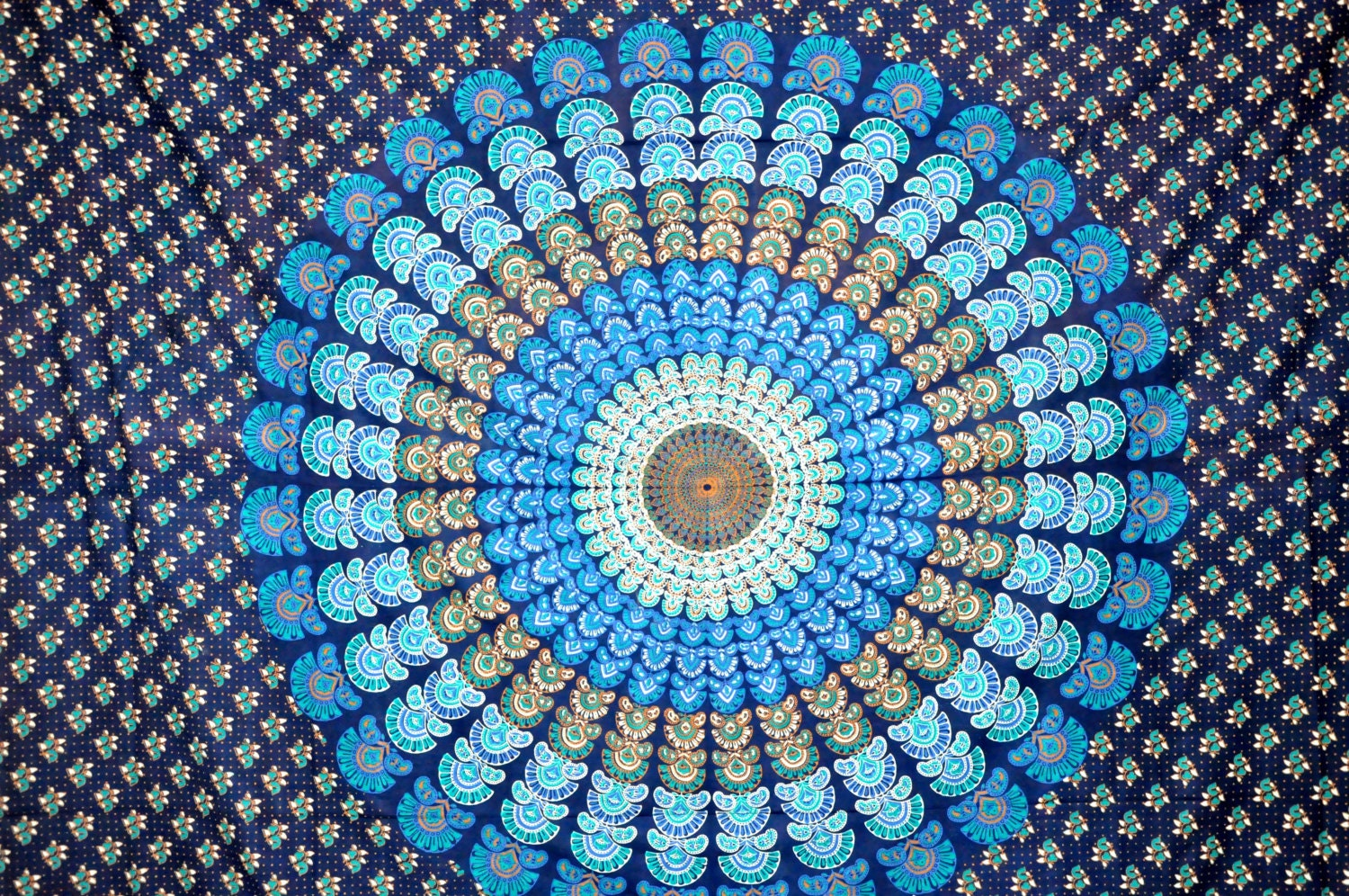 Hippie tapestry wallpaper images wall tapestries - Blue Indian Mandala Tapestry Indian Wall Hanging By