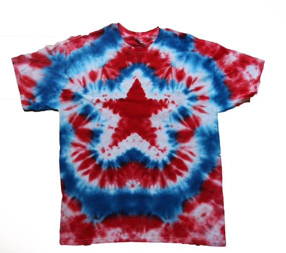 4th of july tie dye shirt customhandmade by goodvibegifts