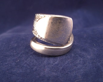 "Spoon Ring 1939 ""Bouquet"" Handmade Spoon Jewelry size 8 1/2"