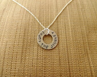 Lifestyle Gift   Enjoy The Journey - graduation, retirement, leaving, travel jewelry, graduation necklace