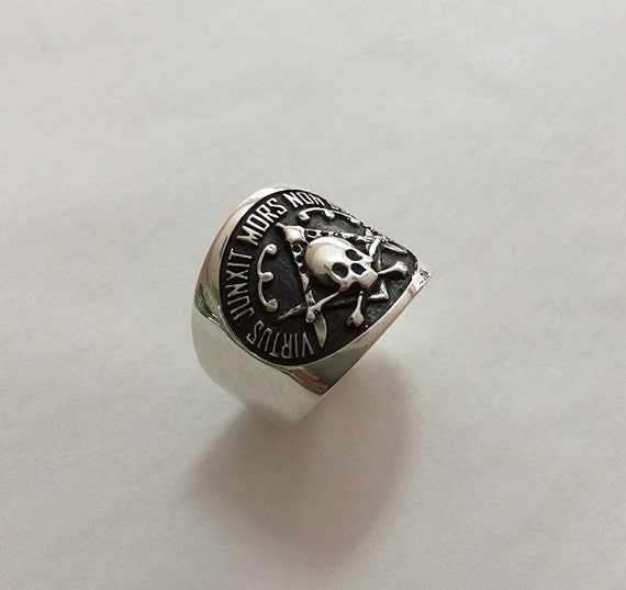 masonic skull ring sterling silver 925 handmade all