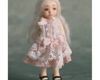 OOAK Candy Smoothie Miniature Doll - Tria - Baby Pink Set