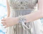 Wrist Corsage - Iridescent Beads - Wedding Accessory for Mothers, Aunts, Sisters, Women - Holiday Wrist Corsage for Prom or Dance