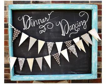 Voilà Vintage 6ft. Pennant: French Bridal Shower, Classy Halloween Decor, 1st Birthday Girl, Parisian Baby Shower, Wedding Garland