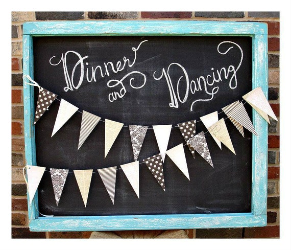 Voilà Vintage 6ft. Pennant *** French Bridal Shower, Parisian Baby Shower, Nursery Decor, Classy Halloween Decor ***