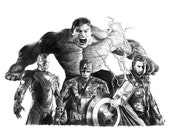AVENGERS pencil drawing