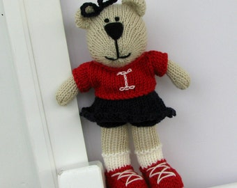Personalized Toy - Hand Knit Bear - Stuffed Animal  - Valentine Toy - Plush Teddy Bear - Kids Toys - Children Toy - Plush Doll - Isabella