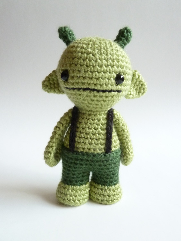 Plush amigurumi monster Stuffed toy Crochet softie monster