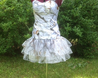 Muddy Girl Camo Floor Length Dress By Camogownsandmore On Etsy