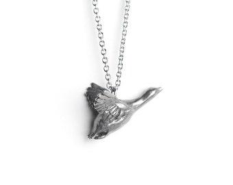 Animal Totems, Snow Goose Necklace - December / January Birth Totem Jewelry - Capricorn