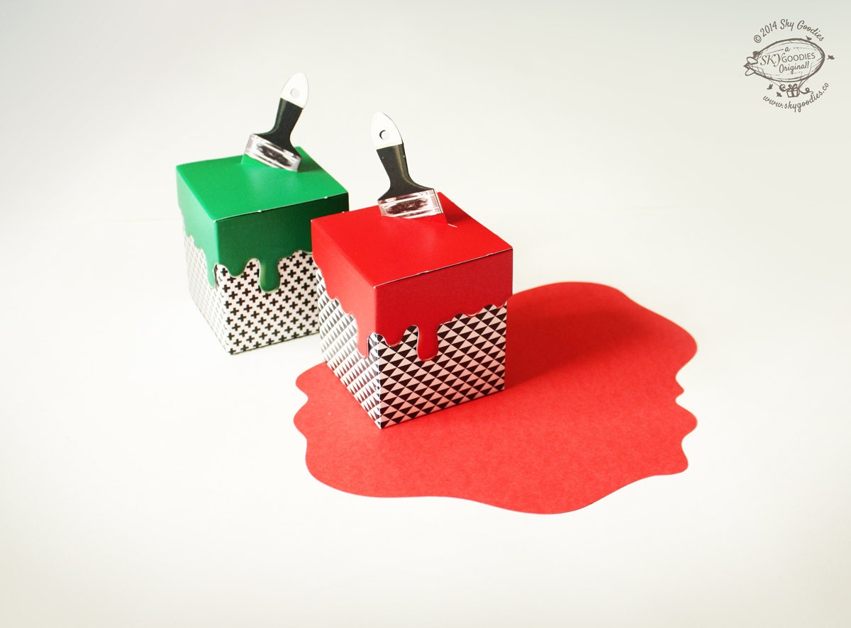 DIY Paint Box / Gift Box / Party Favors / Advent Calendar ...