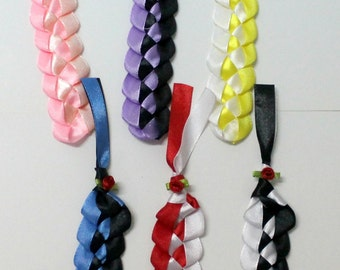 Bookmarks, red rose bookmarks, satin ribbon bookmarks, assorted ribbon colours, gift bookmarks, 2-tone colours, fabric bookmarks