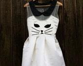 Handmade Kawaii Kitty Cat  Dress/Halloween Costume /// White