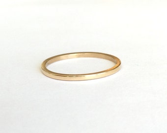 14K Yellow Recycled Gold Band, Wedding Ring, Stacking Ring