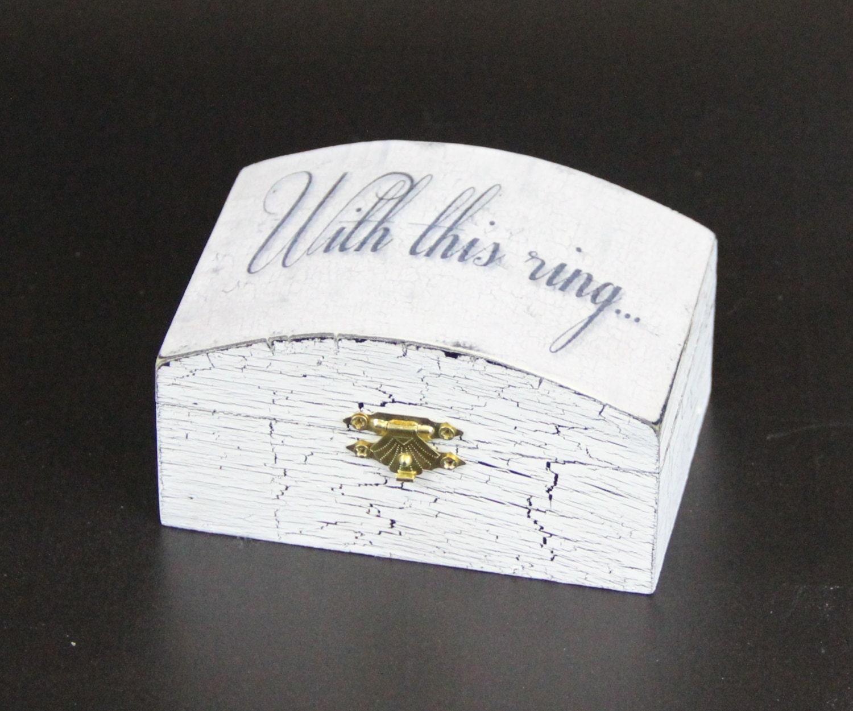 Ring Bearer Box Personalized Wedding By OneTimelessTreasure