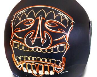 Helmet Pinstrip Tiki motif commissioned.