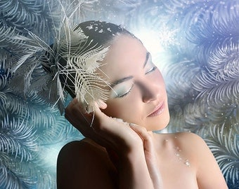 Winter portrait printed on aluminium 3mm wall decoration individual item