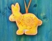 Rabbit Decoration / Ornament, Yellow and Orange Sun Rabbit, sale item