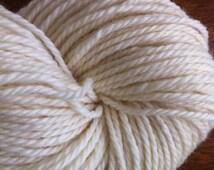 DK Targhee Undyed Yarn 3 Ply Natural Ecru Undyed Yarn Blank Made in USA