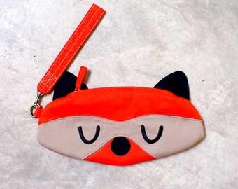 Wristlet - Bandit The Raccoon Wrist-Poche (ORANGE)