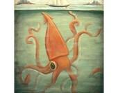 Kraken Underneath Print 8x10