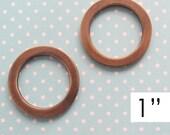 Round Rings 1 Inch Antique Brass  | O Rings | Circle Rings | Handbag Hardware | Purse Making Supplies | Bag Hardware