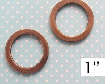 Round Rings 1 Inch Antique Brass    O Rings   Circle Rings   Handbag Hardware   Purse Making Supplies   Bag Hardware