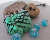 Green Scale Mail Dice Bag