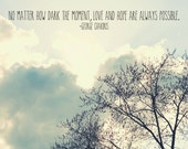 Proceeds benefit Central IL Tornado Relief  - Tree & Sky, inspirational quote fine art photography print