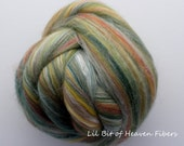 Ashland  Bay Merino /Silk Roving - Green - ABR8