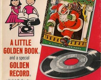 The Night Before Christmas a Little Golden Book - Clement C. Moore - Corinne Malvern - 1949 - Vintage Book