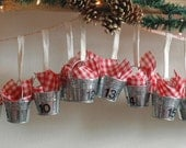 Galvanized bucket Advent Calendar FREE SHIPPING in the US