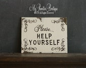 Items Similar To Vintage Wedding Sign Please HELP