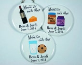 25 Meant for Each Other BOTTLE OPENERS, Save the Date, Bridal Shower Favors, Wedding Favors