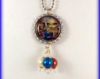 """Jasmine Becket-Griffith  """" Poisson Volants Le Poisson Lion """"  necklace"""