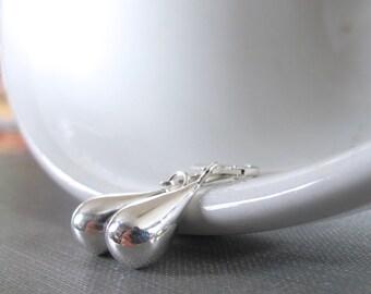 Teardrop Earrings, Silver Earrings, Silver Drops, Sterling Silver, Silver Jewelry, Simple Elegance, Silver Teardrops,