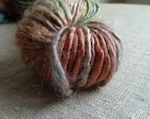 Handspun vegan yarn, rainbow soy silk, hand dyed