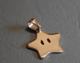 Pendant - Sterling silver Super Mario star
