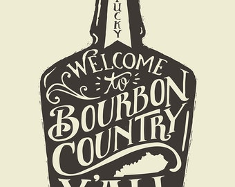 Bourbon Country - Screenprinted Art Print