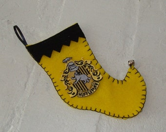 Hufflepuff Elf Stocking Ornament - Mini Size