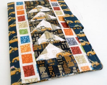 Nook HD Plus Cover Patchwork New York City Theme, soft book style