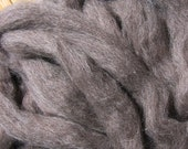 Undyed Natural Gray Roving - 8 ounces - Free Domestic Shipping