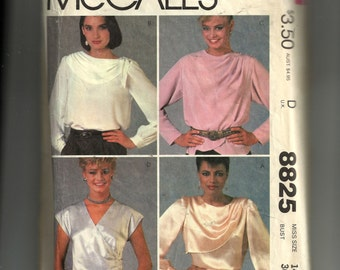 McCall's Misses' Blouses Pattern 8825